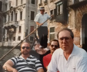 Business Beginnings in Venice, 1989. L-R: The late great Dave-o King; Mustachioed Ron Treister; Randy Stertmeyer, navigating as always.